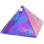 Glass Pyramid Box Plain Blue Iridescent